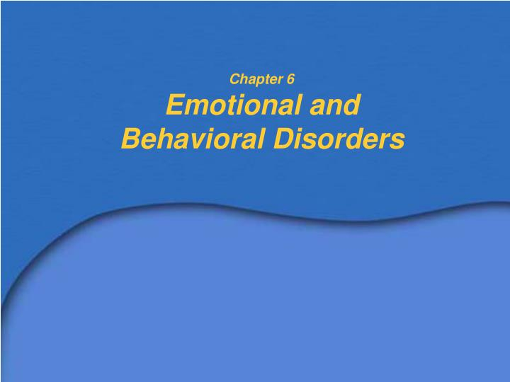 a study on serious emotional disturbance or sed Teaching students with severe emotional and behavioral disorders: best  practices  the child study and treatment center (cstc) is washington's long.