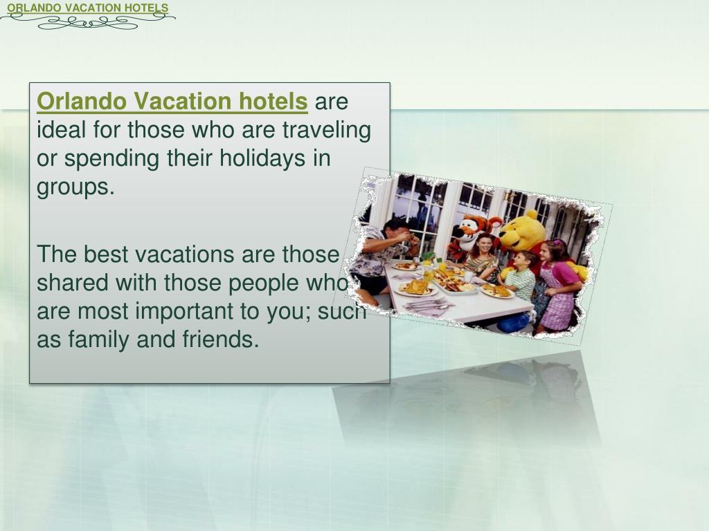ORLANDO VACATION HOTELS