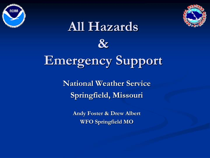 all hazards emergency support n.