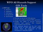 wfo all hazards support gis tools