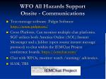 wfo all hazards support onsite communications