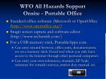 wfo all hazards support onsite portable office