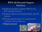 wfo all hazards support solutions