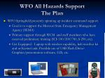 wfo all hazards support the plan