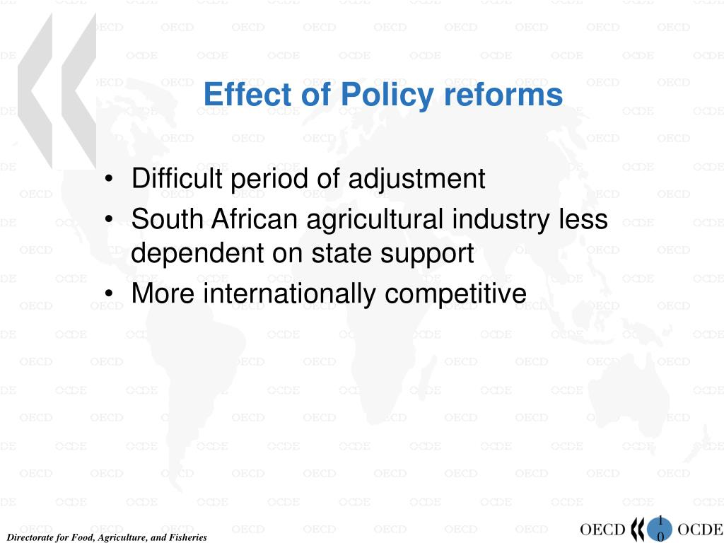 Effect of Policy reforms