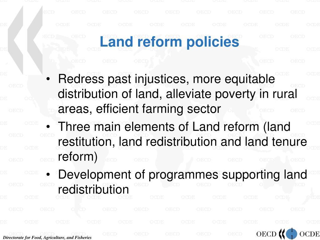 Land reform policies