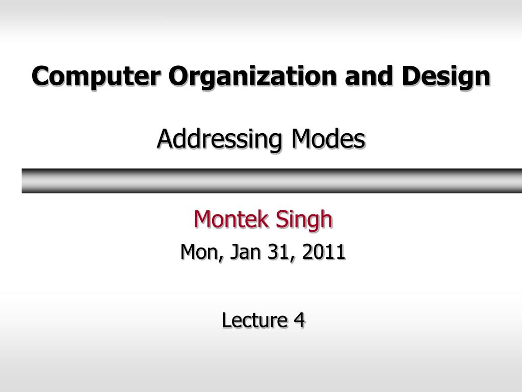 Ppt Computer Organization And Design Addressing Modes Powerpoint Presentation Id 607683