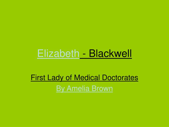 elizabeth blackwell essays in medical sociology Medical sociology has its roots in three dif-ferent if related notions: medicine as a social science,socialmedicine,andthesociologyof  sociology'' comprised collections of essays by elizabeth blackwell in 1902 and james peter warbasse in 1904 and both editors were physicians, not sociologists.