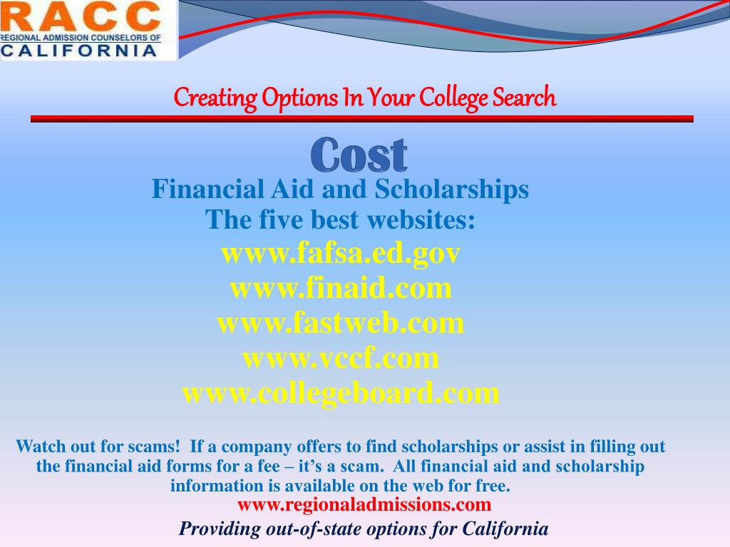 Creating Options In Your College Search