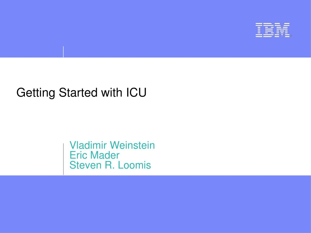 getting started with icu l.