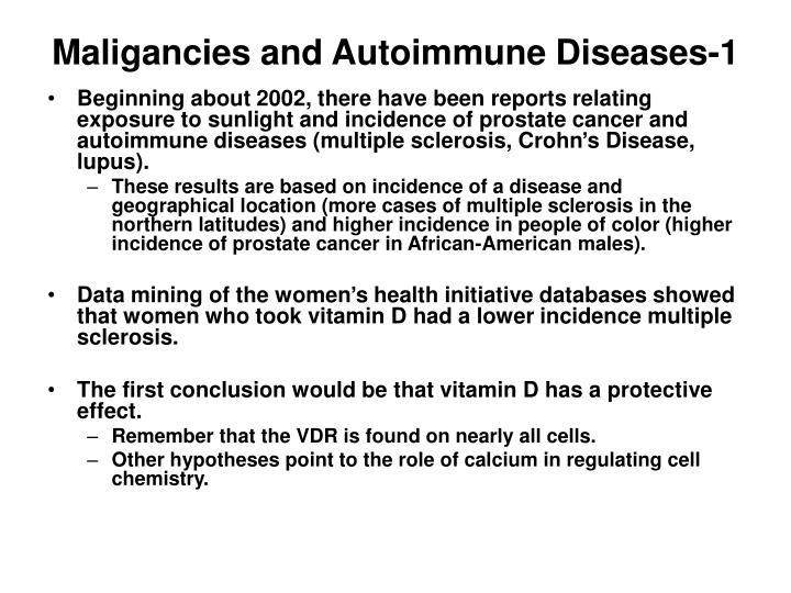 Maligancies and Autoimmune Diseases-1