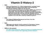 vitamin d history 2