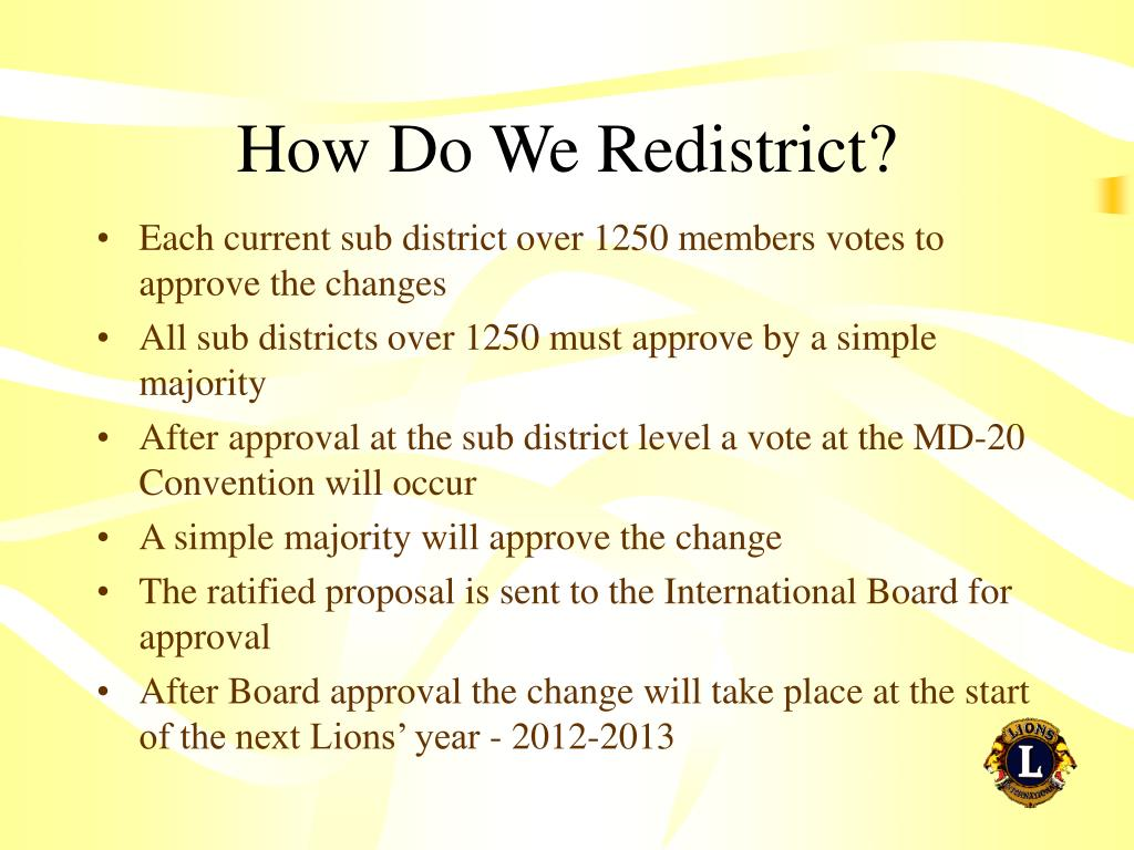 How Do We Redistrict?