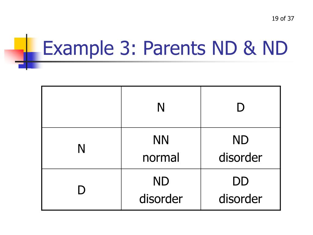 Example 3: Parents ND & ND