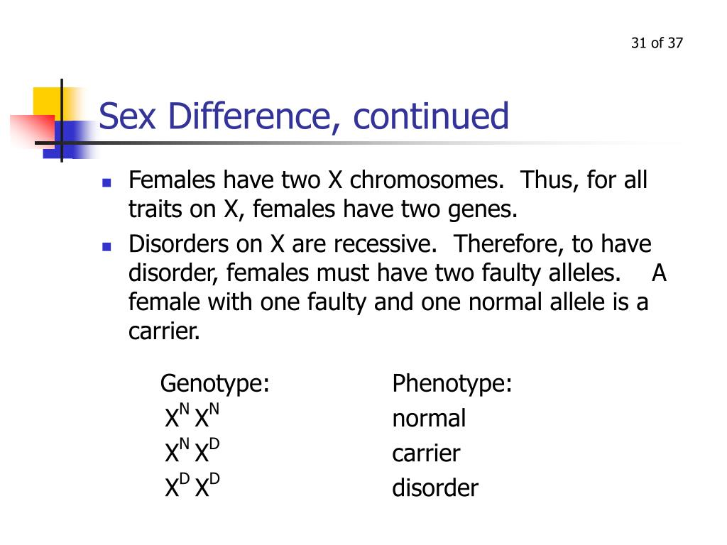 Sex Difference, continued