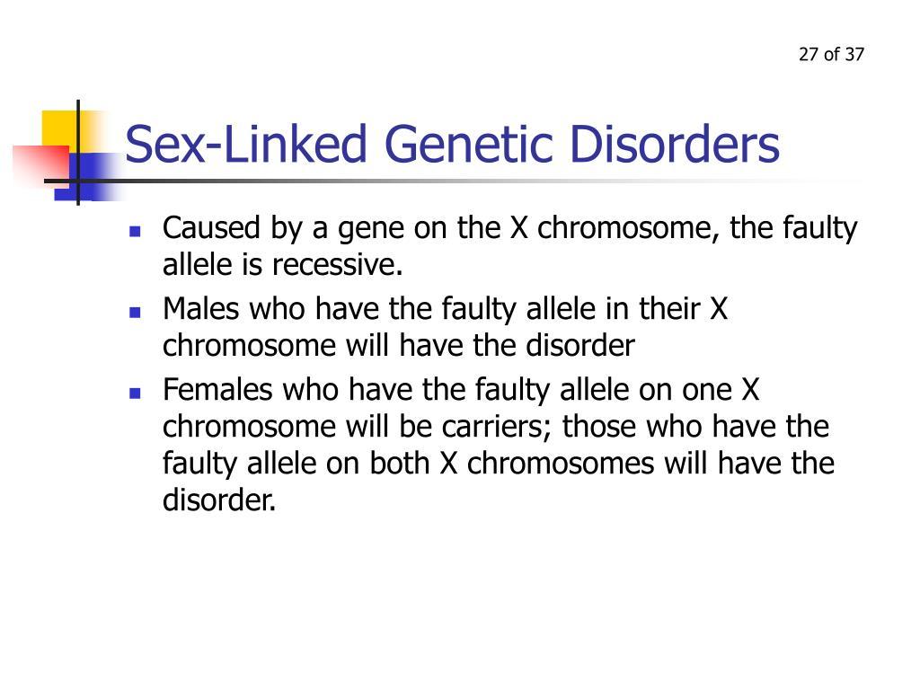 Sex-Linked Genetic Disorders