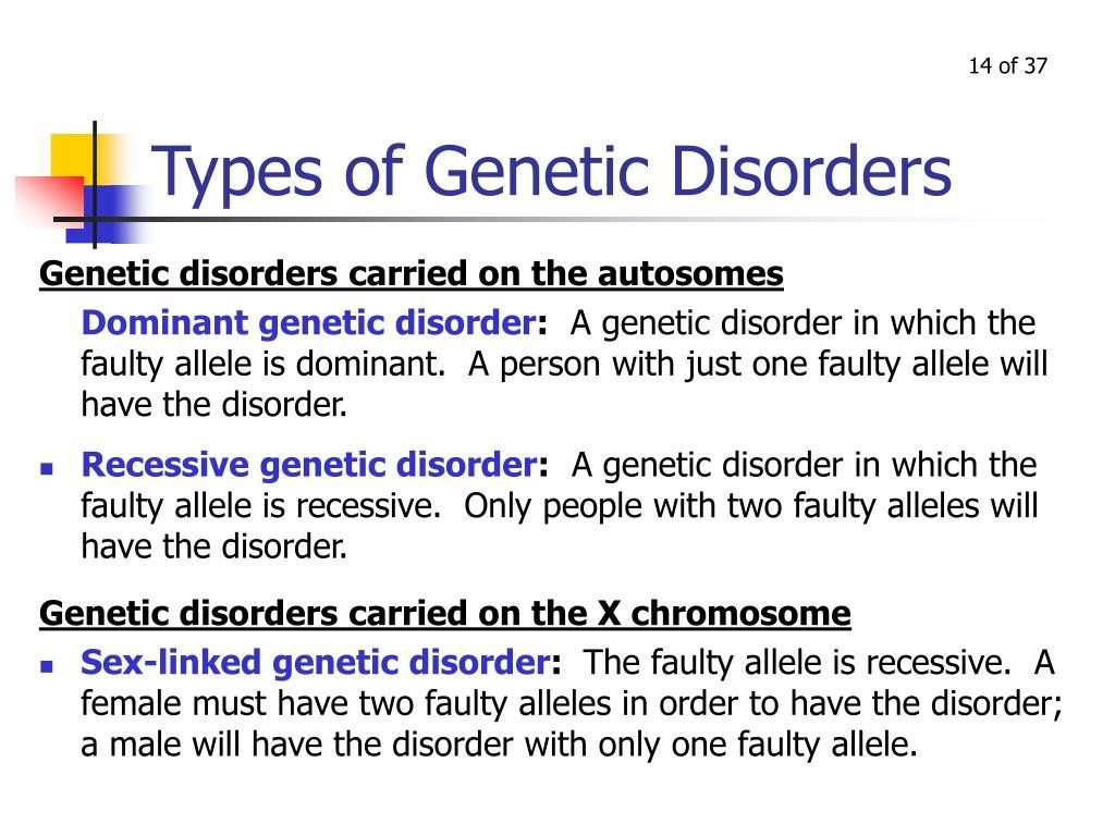 Types of Genetic Disorders
