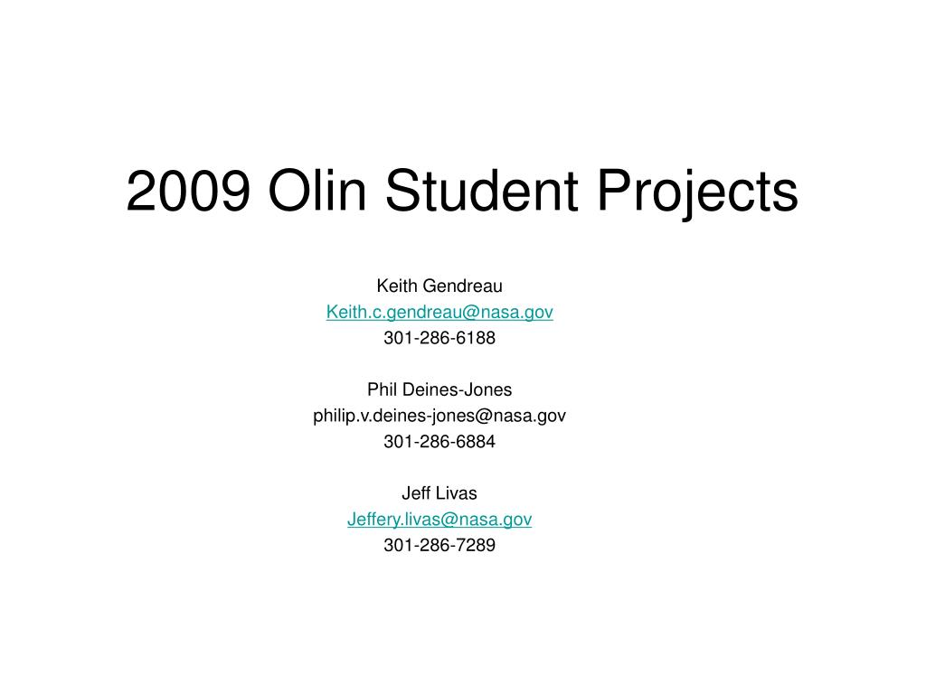 2009 olin student projects l.