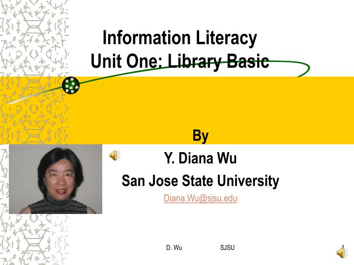 information literacy unit one library basic n.