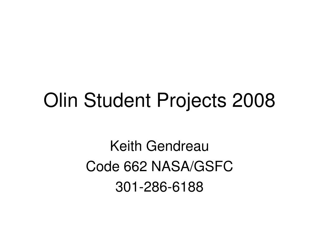 olin student projects 2008 l.