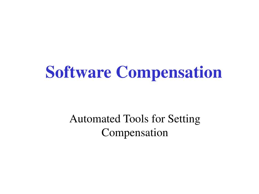 Software Compensation