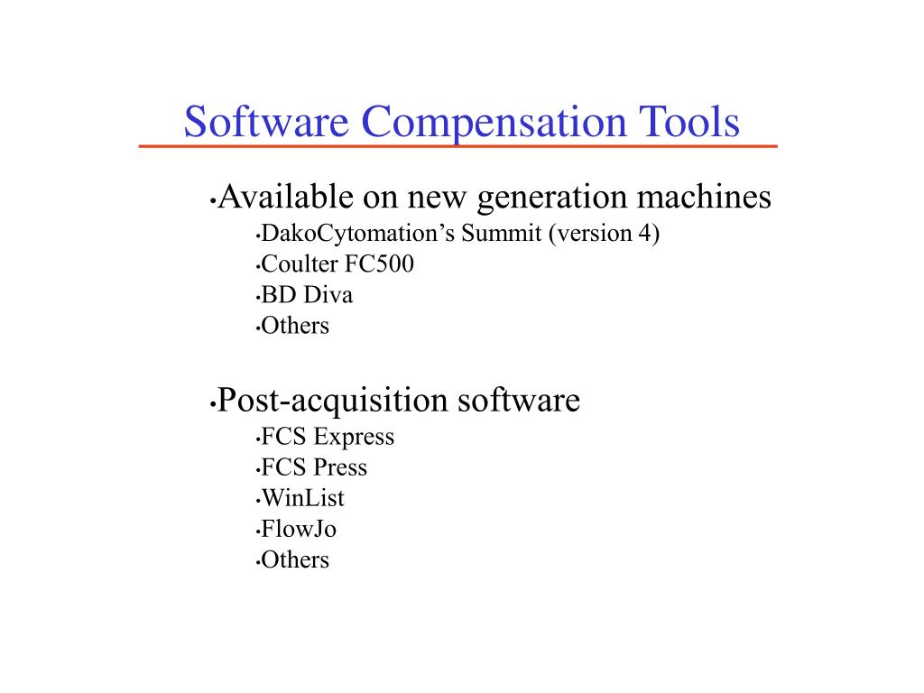 Software Compensation Tools