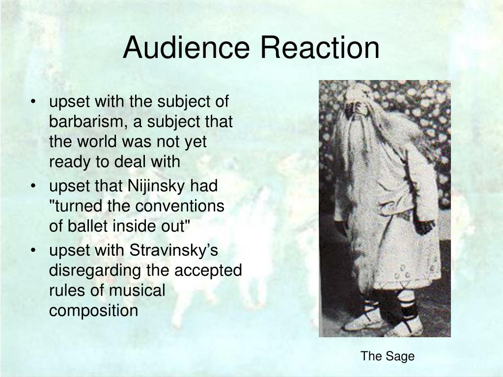 Audience Reaction