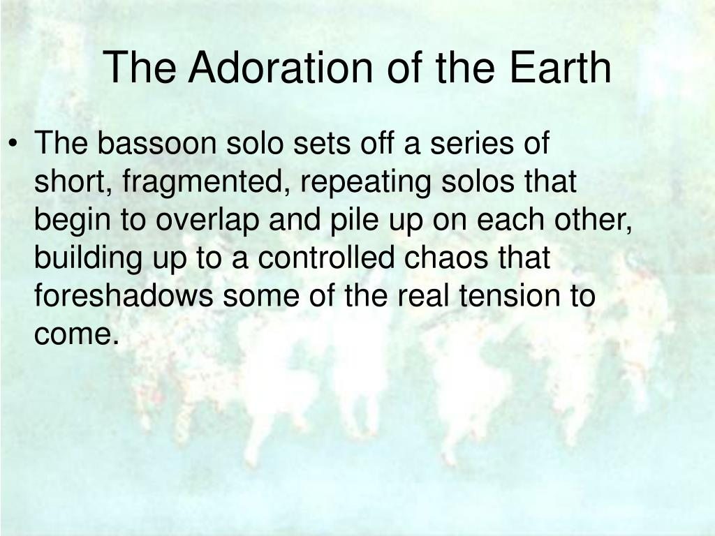 The bassoon solo sets off a series of short, fragmented, repeating solos that begin to overlap and pile up on each other, building up to a controlled chaos that foreshadows some of the real tension to come.