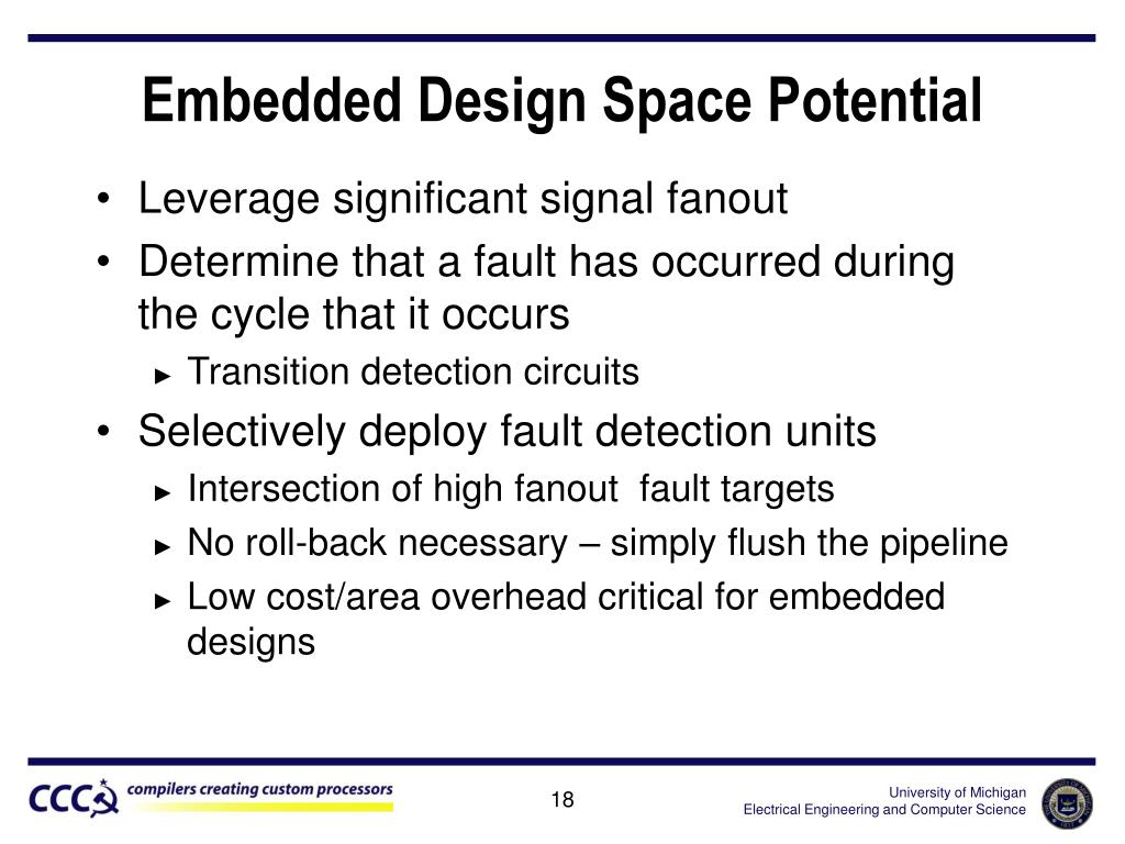 Embedded Design Space Potential