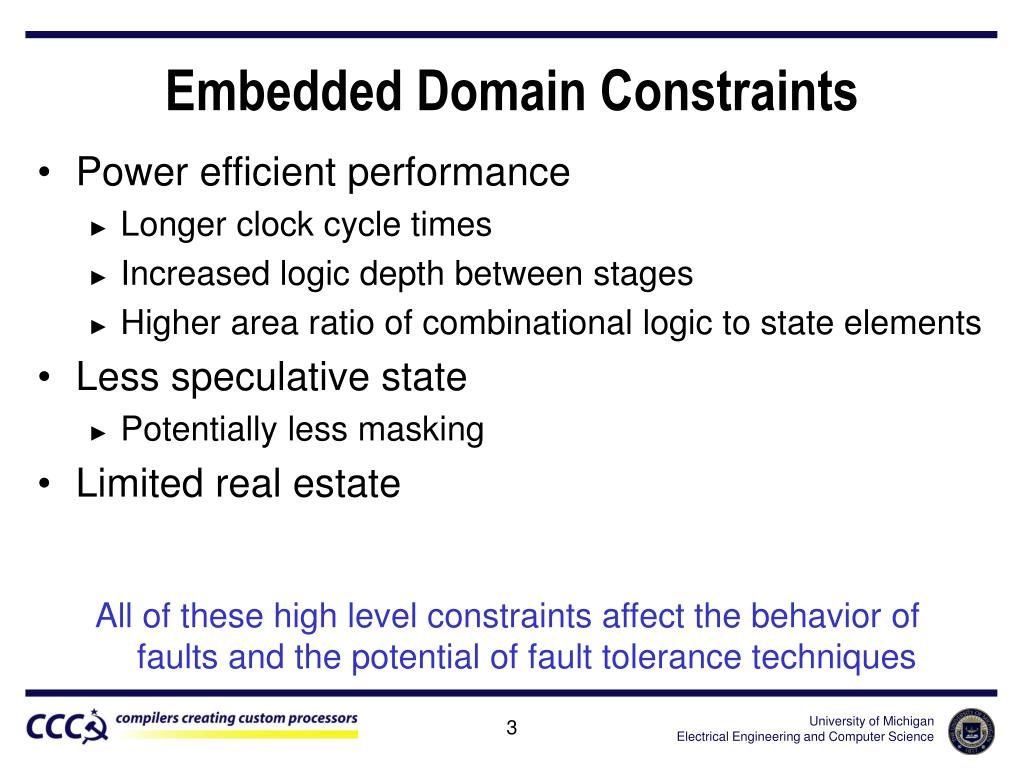 Embedded Domain Constraints