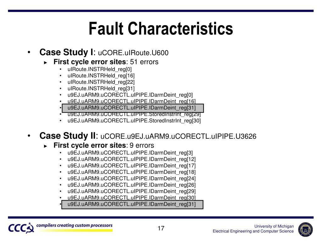 Fault Characteristics
