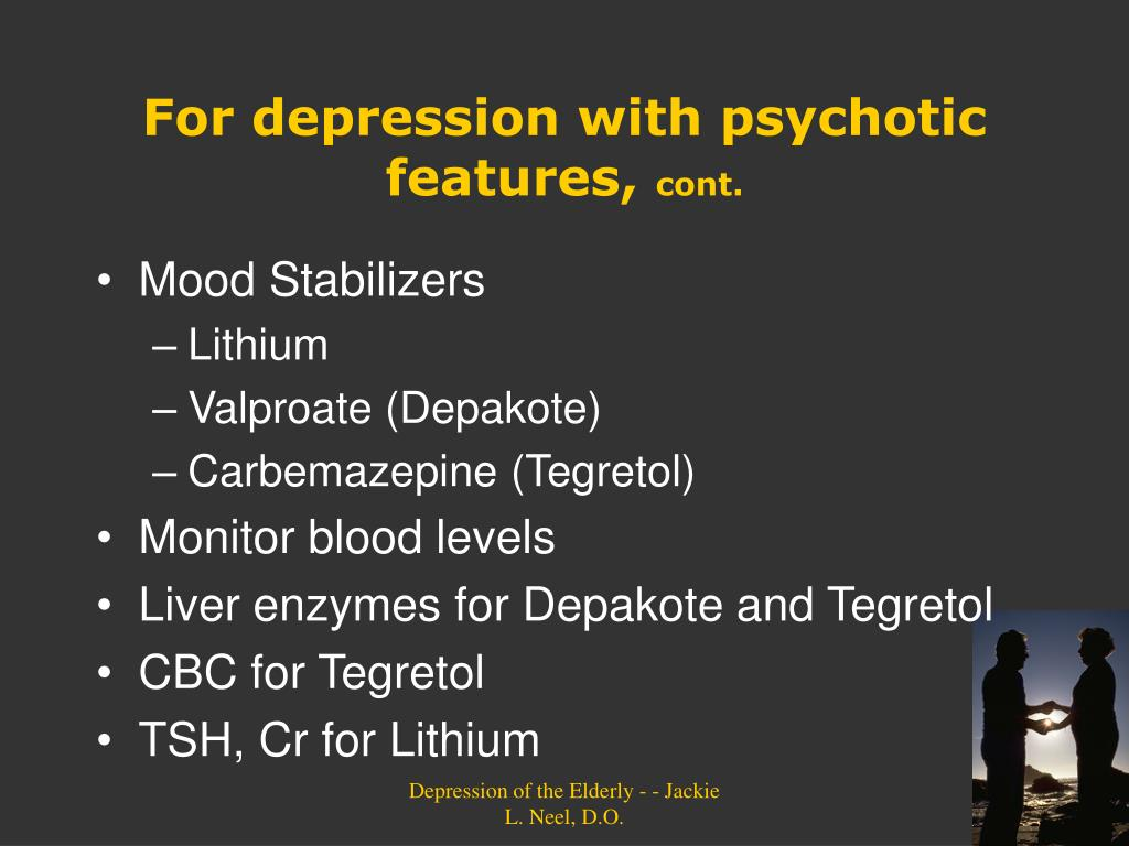 PPT - TREATMENT OF DEPRESSION IN THE ELDERLY PowerPoint ...
