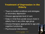 treatment of depression in the elderly1