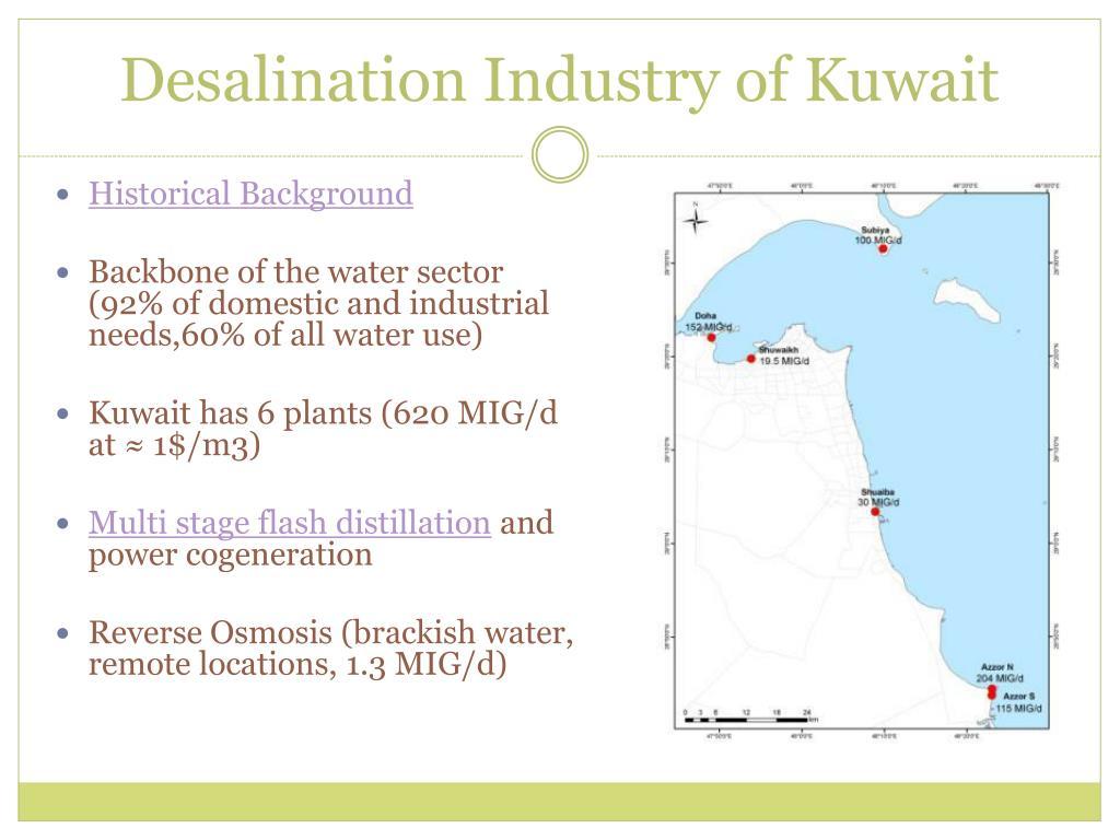 Desalination Industry of Kuwait