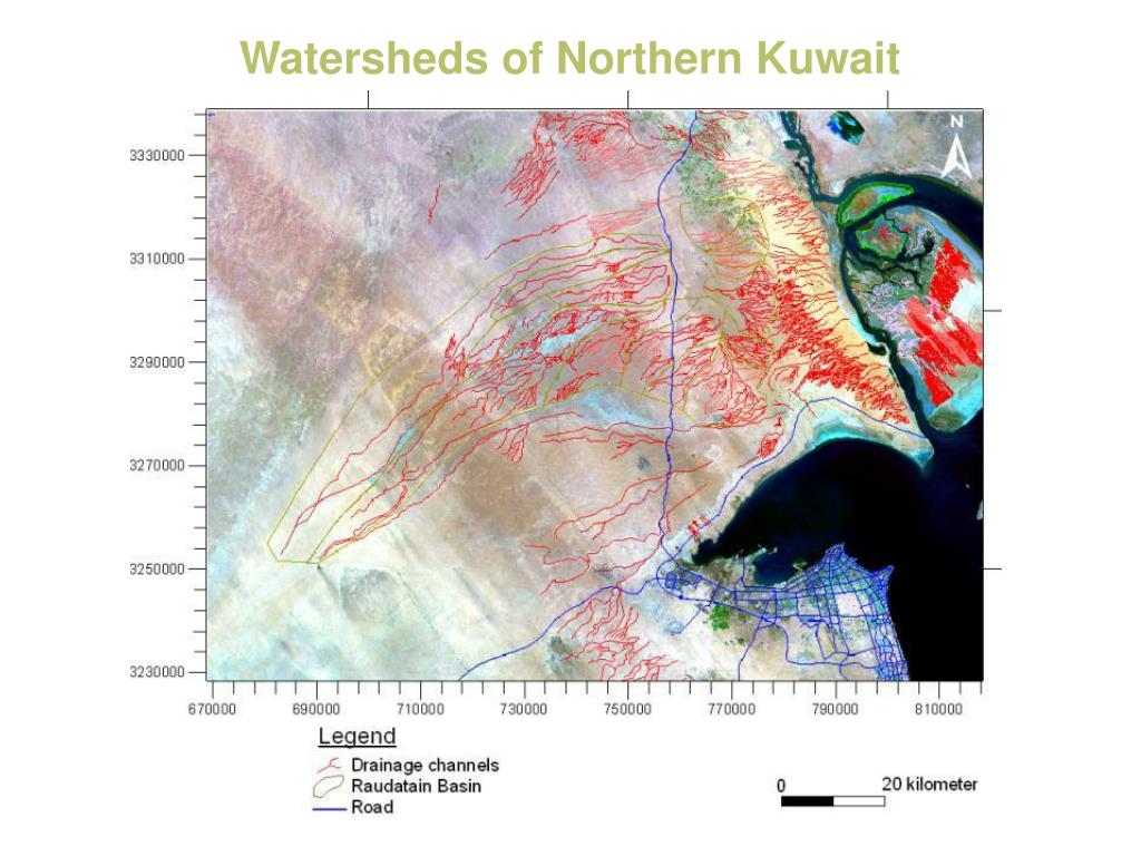 Watersheds of Northern Kuwait