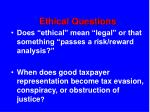 ethical questions77