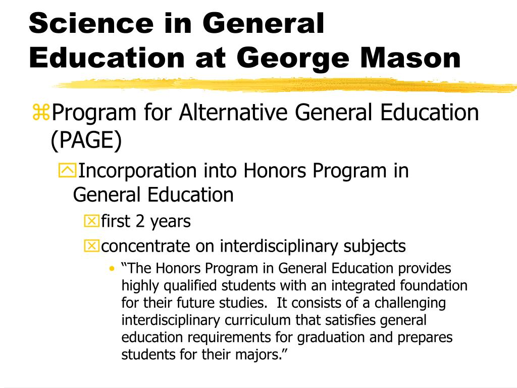 Science in General Education at George Mason