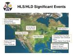 hls hld significant events