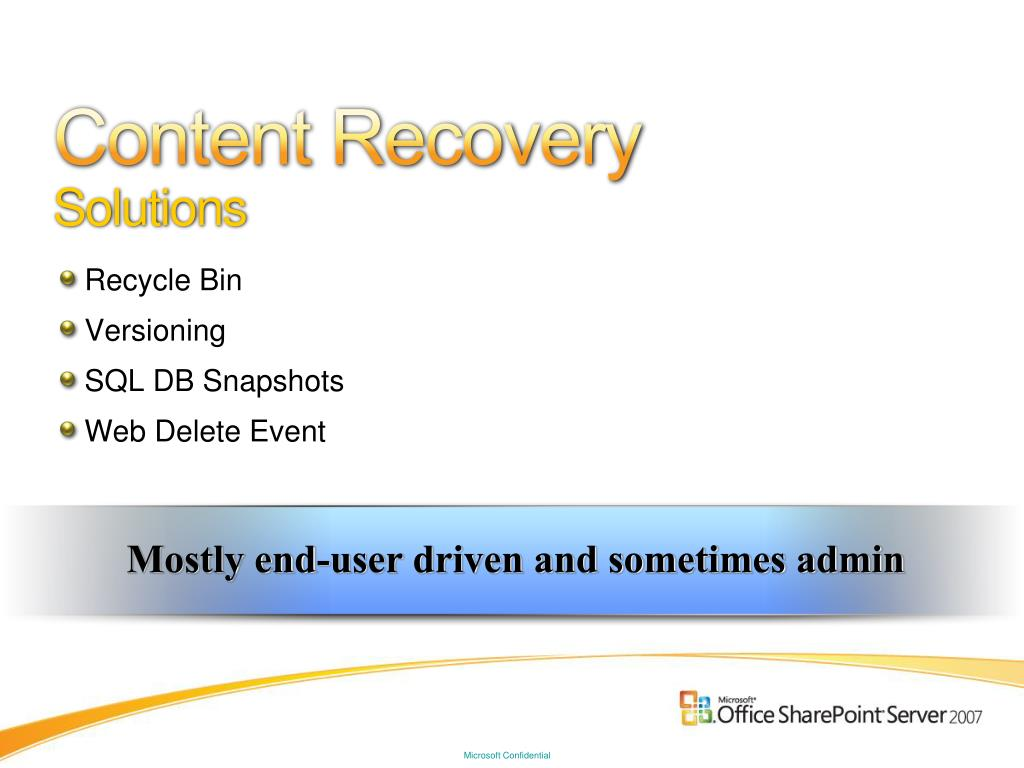 Content Recovery