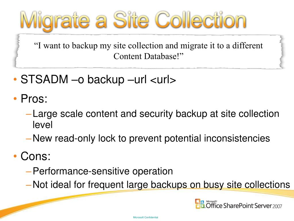 Migrate a Site Collection