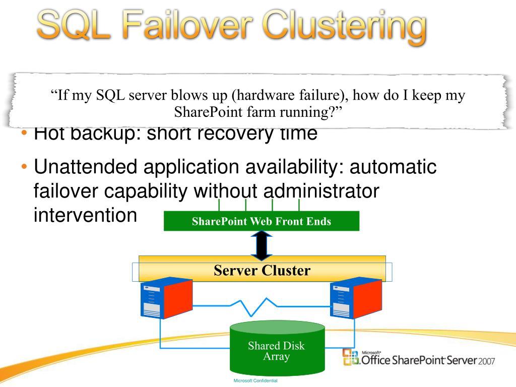 SQL Failover Clustering