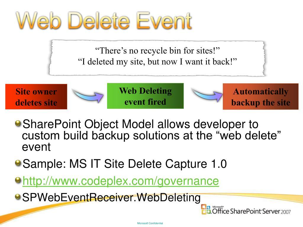Web Delete Event