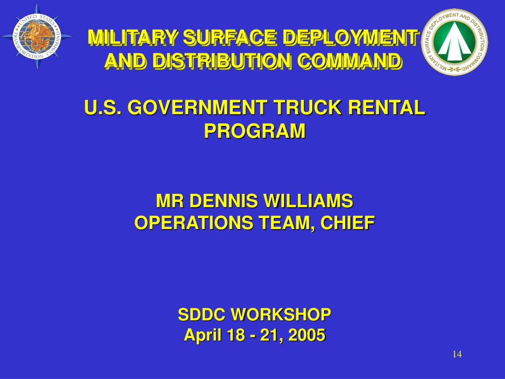 MILITARY SURFACE DEPLOYMENT AND DISTRIBUTION COMMAND