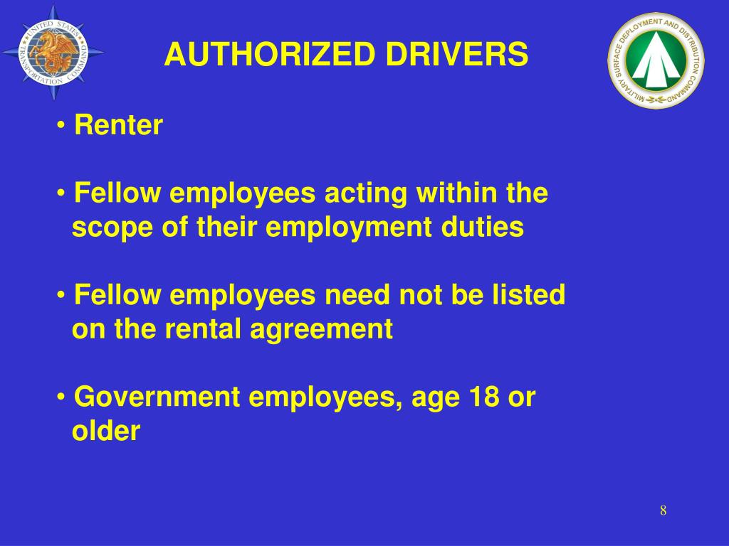 AUTHORIZED DRIVERS