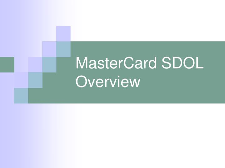 mastercard sdol overview n.