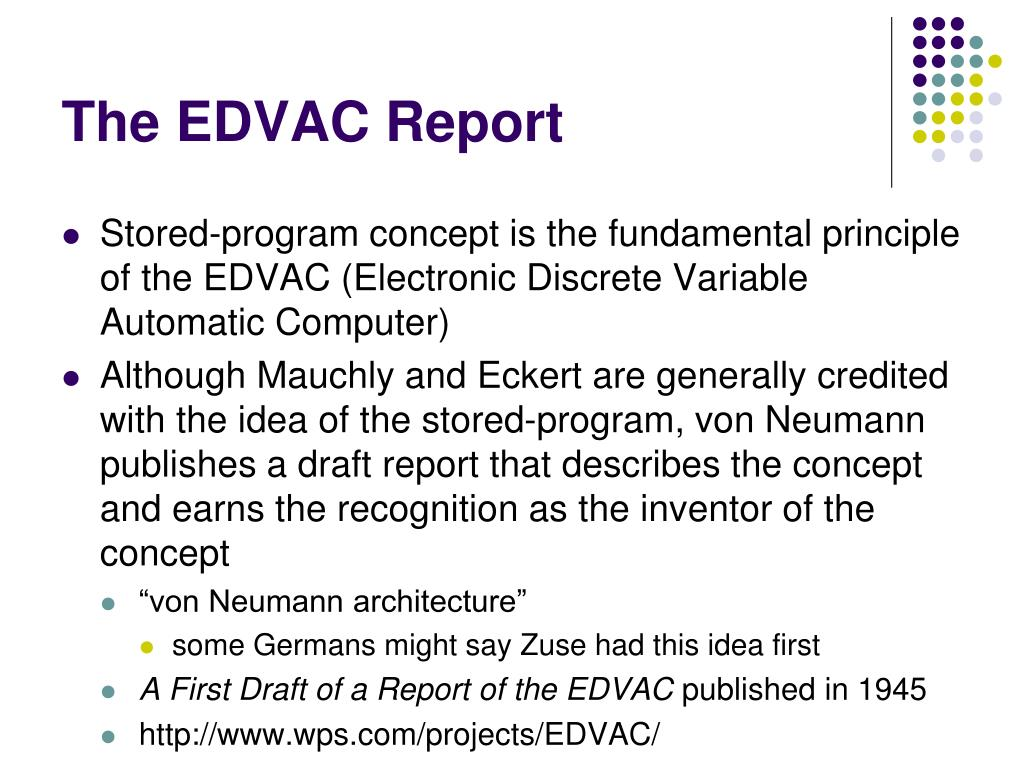The EDVAC Report