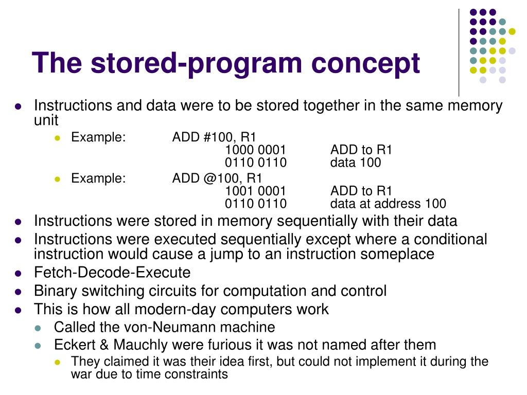 The stored-program concept