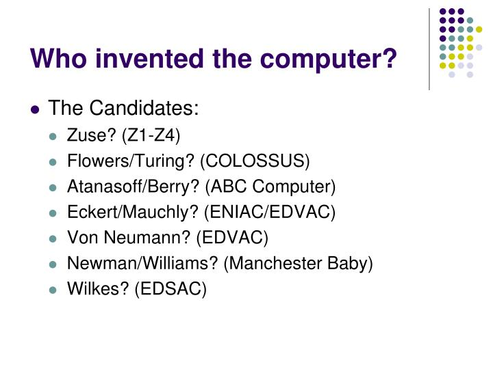 Who invented the computer