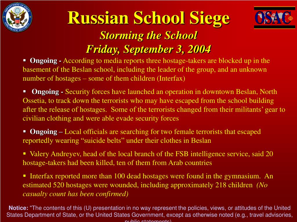 Russian School Siege