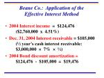 beane co application of the effective interest method